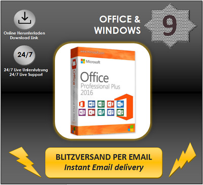 MS Office 2016 Professional Plus, Pro Plus Produktkey per E-Mail DL