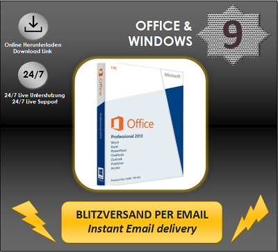 Office 2013 Professional Plus, OEM, Key per Email
