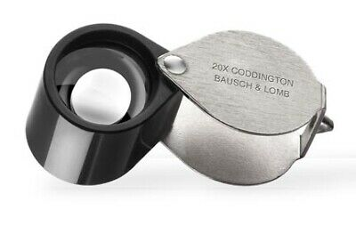 Bausch & Lomb Coddington Loupe 20X - Jewelers Currency Magnifier Swing Case