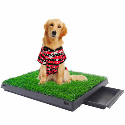 Indoor Puppy Training Grass Potty Toilet Trainer Dog Pee Pads Pet Park Mat Tray