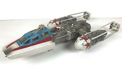 Star Wars OTC ORIGINAL TRILOGY COLLECTION Y-WING RED BLUE + PILOT EU  2004