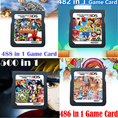 500/486/482/468/488/208 In 1 Game Card For Nintendo NDS 2DS 3DS NDSI NDSL holder