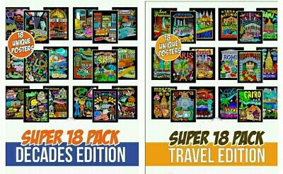 36 COLORING POSTERS : Stuf2color 2 pack - 18 Dynamic + 18 ...