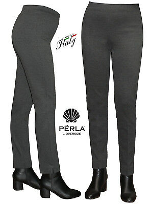 0a54d4a46b9a PANTALONS FEMME HIVERNAL CIGARETTE MADE IN ITALY PERLA OVERSIZE couleur unie