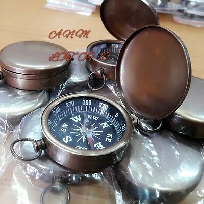 Brass Lid Compass 45 mm Lot Of 10 Pcs Antique Marine Collectible