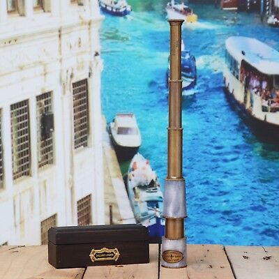 Antique Brass Marine Telescope With Wooden Box Beautiful Gift Item