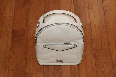 bc4baebb33e3 NWT Michael Kors $268 Jessa Small Convertible Backpack Handbag White/Silver