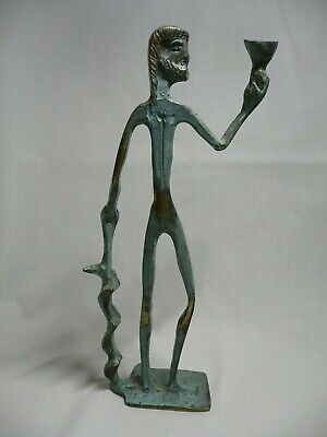 Modernist Fredrick Weinberg style bronze art sculpture of Apollo.