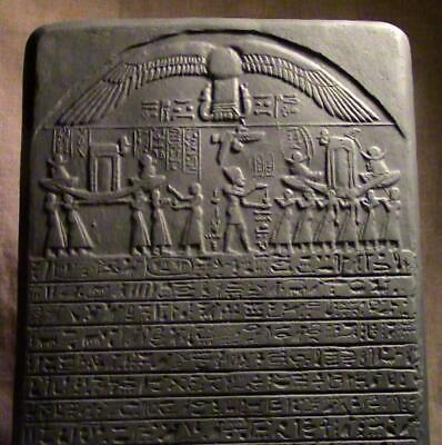 """THE """"PRINCESS STELE"""" Egyptian relief tablet 19th Dynasty ancient replica"""
