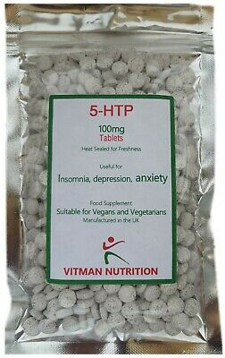 5HTP 100mg 240 Tablets £12.89 Depression -Insomnia - Anxiety - Appetite Control