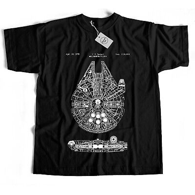 Star Wars Millennium Falcon Film Movie Retro 80S Series Cult Tarantino T Shirt