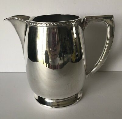 Victorian Plate Silver Plated Water Pitcher With Ice Catcher