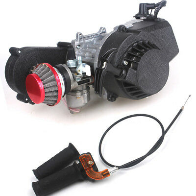 Pocket Engine Mini Dirt Bike w/Gear Box New Metal Air Filter+Grips 49cc 2-stroke