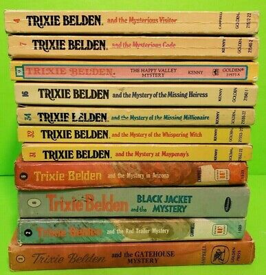 Lot Of 11 Vintage Trixie Belden mystery books Kathryn Kenny ~ Mixed Lot