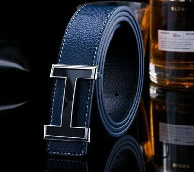 "New Fashion Hot sell Men's Belts Couple Leather""H"" Buckle Waist Waistband Belt"