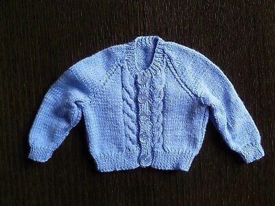 Baby clothes GIRL BOY 3-6m NEW! soft, violet-blue pro knitted cardigan SEE SHOP!