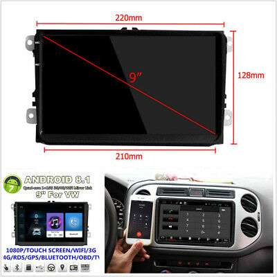 "Android 8.1 Quad Core 9"" 1080P Car Stereo Radio 2 Din GPS Navigation Wifi 3G 4G"