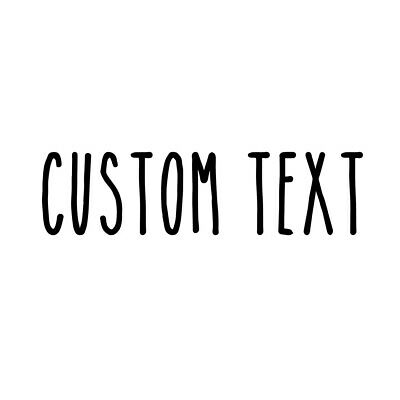 OLD ENGLISH FONT Custom YOUR TEXT Vinyl Decal Sticker NAME