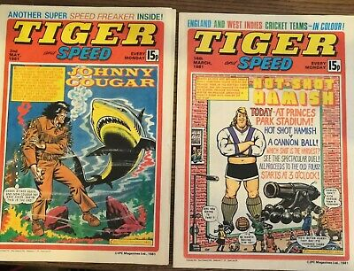 4 Tiger And Speed Comics 1981 - Very Good Condition