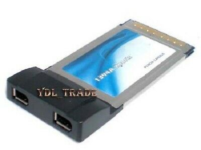 2 Port PCMCIA Two Firewire 1394 6 Pin Cardbus Card PC