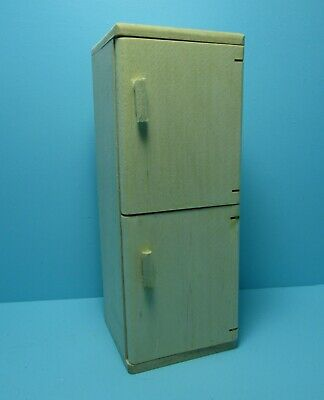 Dollhouse Miniature Kitchen Modern Refrigerator with French Doors ~ CLA10125