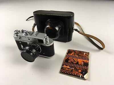 Zorki 4 35mm camera & leather case - USSR - Soviet - SLR