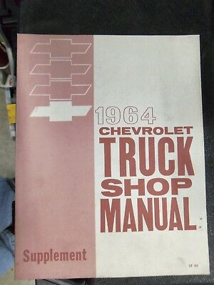 1964 Chevrolet Truck Shop Manual Supplement ST 35 Factory OEM