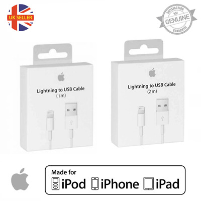 Genuine Apple Lightning Usb Charger Lead Cable Iphone X Xs Max Xr 8 7 6 5 Ipad 4