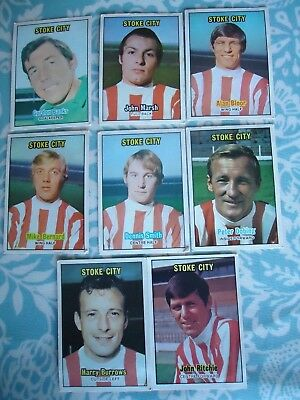 A&BC 1970s Stoke City Footballers Cards Orange Back Choose from selection