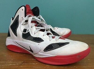low priced a7f93 d8b91 Nike Zoom Hyperfuse 2011 Men's Basketball Shoes - Size 12 - White, Black,  Red