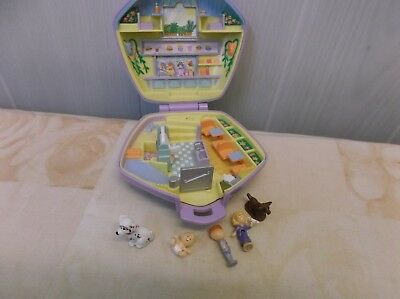 Blue Bird Polly Pocket Fast Food Restaurant Diner + personnages 1992