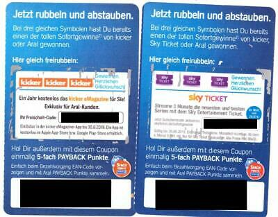 Aral Gutscheine Kicker eMagazine + 3 Monate Sky Entertainment Ticket