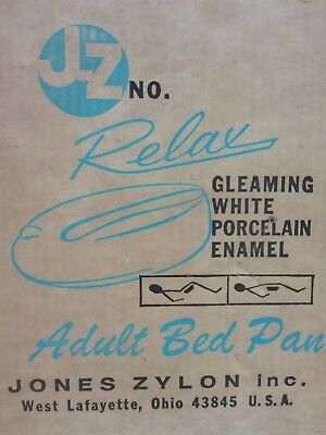 J-Z Relax Porcelain Enamel Adult Bed Pan      #57-11