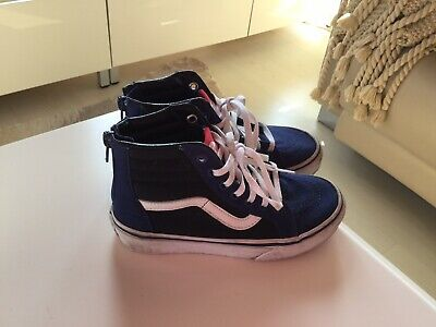 f06e276cf1 Boys Vans Hi Top Trainers. VGC Size 13.5 UK. Navy And Mid Blue