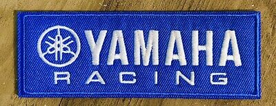 "YAMAHA Racing Logo Patch Embroidered Iron / Sew On 4.25"" Motorcycle Boat Race"