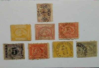 Amazing Stamps Egypt 1866-1872, 1st, 2nd and 3rd issues RARE 8 Stamps