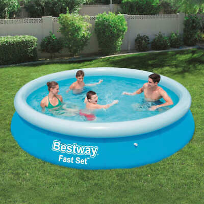 Bestway Fast Set Inflatable Swimming Pool Round 366x76cm Summer Water Centre#