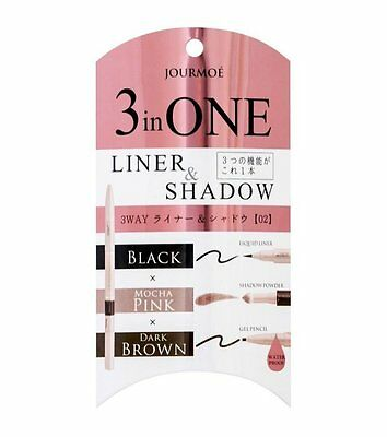 [JOURMOE] 3 in ONE Waterproof Eyeliner and Eye Shadow Pen 02 GIRLY Japan NEW