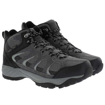 Khombu Mens Hiking Boots Tyler Tactical Outdoor Shoes Black Gray Size 9