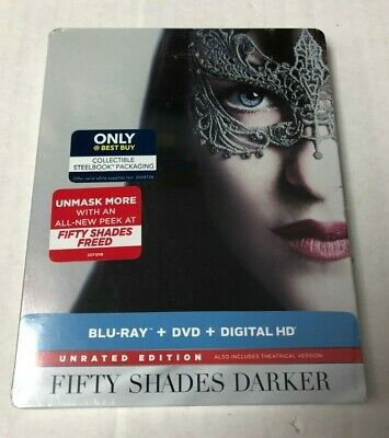 Fifty Shades Darker Blu-Ray DVD Steelbook Unrated Edition NEW IMPERFECTIONS