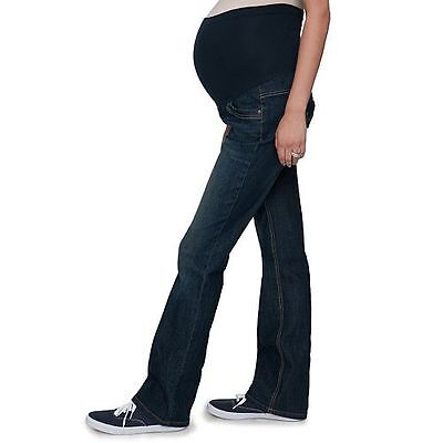 bddc6ab8d01 Oh Baby by Motherhood Secret Fit Belly Bootcut Maternity Jeans womens size M