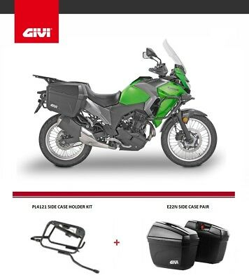 Kawasaki Versys-X 300 2017 Givi E22N Panniers + Pl4121 Side Case Holder Rack Set