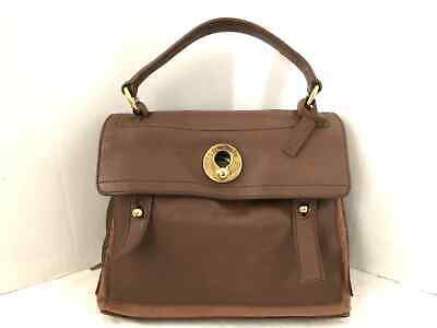 98ae67b4857d Auth Yves Saint Laurent rive gauche (YSL) Muse Two 289278 Brown Leather