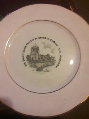 Commemorative Plate Parish Church of St.Edward the Confessor.Leek.