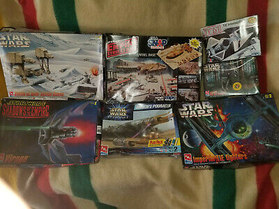 7 VINTAGE STAR Wars Model Kits Amt, Revell Monogram