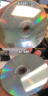 100 Mail-in Disc Scratch Repair Resurfacing Cleaning Service CD DVD Blu-Ray Game