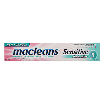NEW Maclean's Toothpaste Sensitive Relieve The Pain Of Sensitive Teeth 100g
