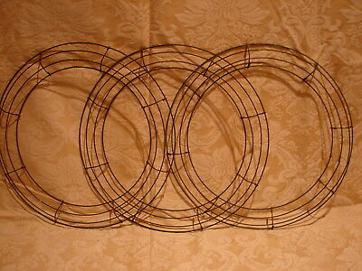 "Lot of 3 Heavy Duty WIRE WREATH U FRAMES 16"" lot #5"