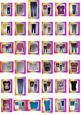 Girls Size 8 Outfits, Clothes, Jeans, Tops, Skirts, Dress, Clothing, Lot,Justice