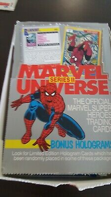 Marvel Universe Series 2 II 1991 Trading Cards Full Set 1-162 + more (box-)